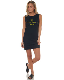 BLACK WOMENS CLOTHING ZOO YORK DRESSES - ZY-WDD7275BLK