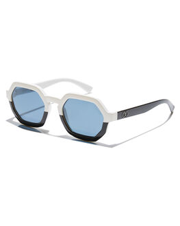 GLOSS BLACK WHITE MENS ACCESSORIES CHILDE SUNGLASSES - CLD-G0105180GBGW