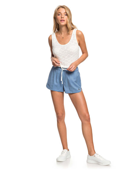 BLUE HEAVEN WOMENS CLOTHING ROXY SHORTS - ERJNS03266-BLF0
