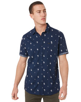 NAVY MENS CLOTHING RIP CURL SHIRTS - CSHMJ10049