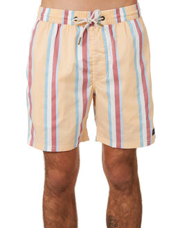 MUSTARD VERT STRIPE MENS CLOTHING BARNEY COOLS BOARDSHORTS - 802-CC4MUST