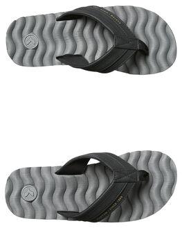 BLACK GREY MENS FOOTWEAR KUSTOM THONGS - 4936205MBKGRY