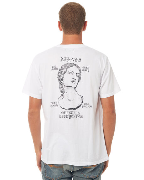 WHITE MENS CLOTHING AFENDS TEES - 01-01-326WHT