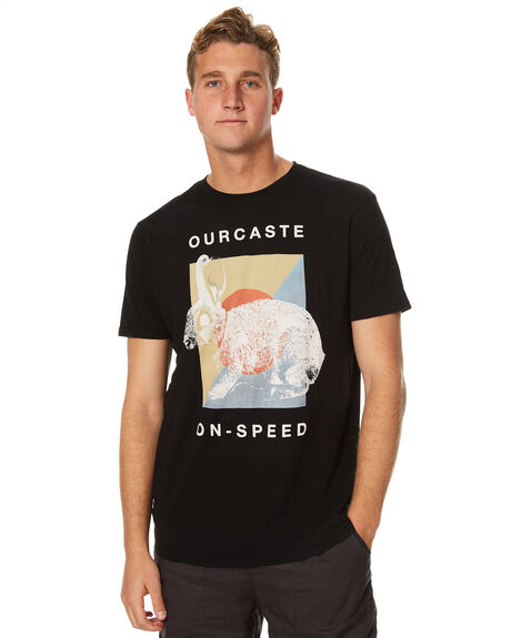 BLACK OUTLET MENS OURCASTE TEES - T1124BLK
