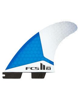 BLUE WHITE V SURF HARDWARE FCS FINS - FJSM-PC01-TS-RBLWHT