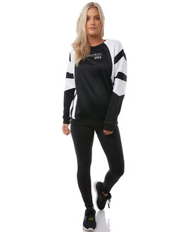 BLACK WHITE WOMENS CLOTHING ADIDAS ORIGINALS JUMPERS - CV7778BLK