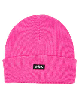 NEON PINK WOMENS ACCESSORIES STUSSY HEADWEAR - ST706007NPNK