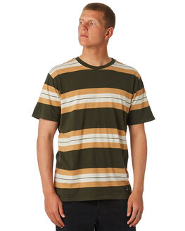 DARK MILITARY MENS CLOTHING RVCA TEES - R381041DMIL
