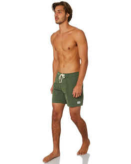 BEER BOTTLE GREEN MENS CLOTHING RHYTHM BOARDSHORTS - JAN19M-TR04-GRN
