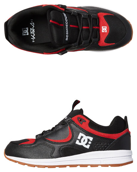 BLACK ATHLETIC RED MENS FOOTWEAR DC SHOES SNEAKERS - ADYS100291BAH