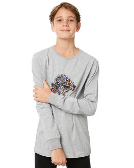 GREY MARLE KIDS BOYS RUSTY TOPS - TTB0589GRM