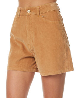 LIGHT TAN WOMENS CLOTHING AFENDS SHORTS - 52-01-084LTAN