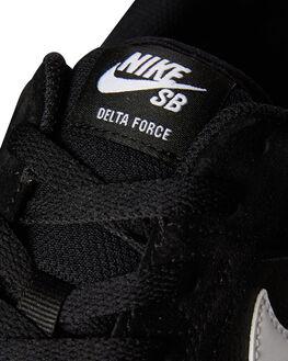 BLACK WHITE MENS FOOTWEAR NIKE SKATE SHOES - 942237-010