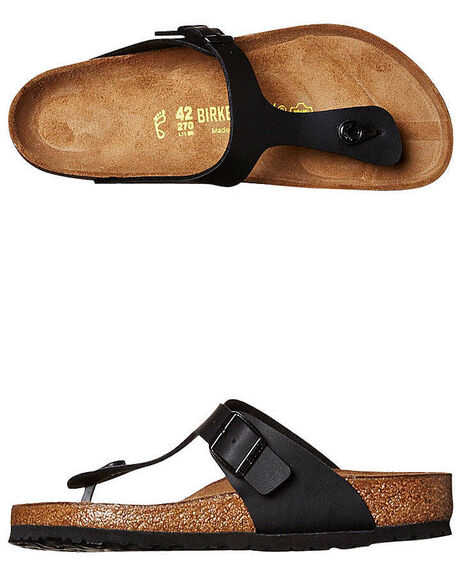 BLACK MENS FOOTWEAR BIRKENSTOCK THONGS - 043691MBLK