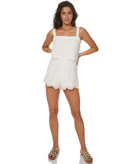 WHITE WOMENS CLOTHING ZULU AND ZEPHYR PLAYSUITS + OVERALLS - ZZ1651WHT