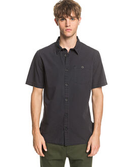 BLACK MENS CLOTHING QUIKSILVER SHIRTS - EQYWT03979-KVJ0