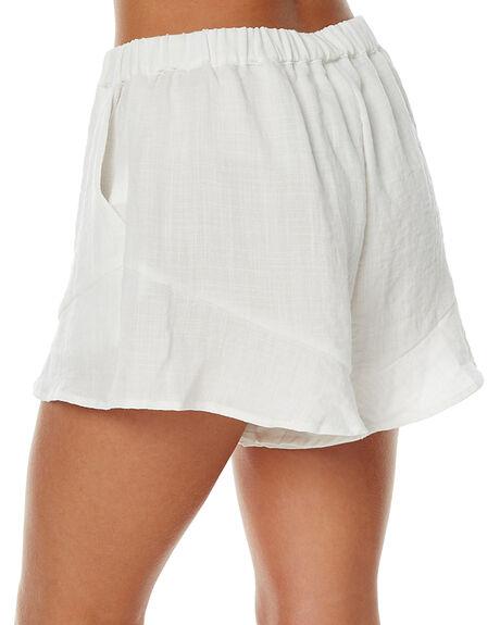 WHITE WOMENS CLOTHING STAPLE THE LABEL SHORTS - UB1608434WHT