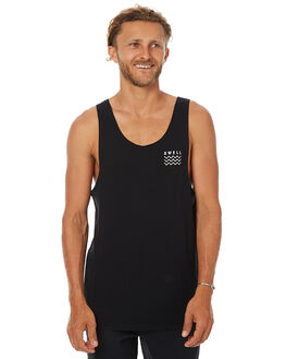 BLACK MENS CLOTHING SWELL SINGLETS - S5161271BLK