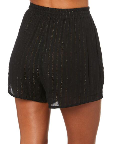 BLACK WOMENS CLOTHING TIGERLILY SHORTS - T305374BLK