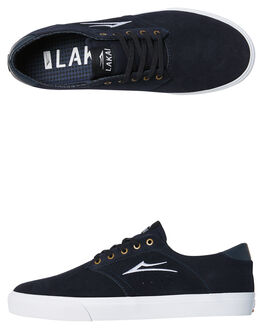 NAVY SUEDE MENS FOOTWEAR LAKAI SKATE SHOES - MS4170247ANVYS
