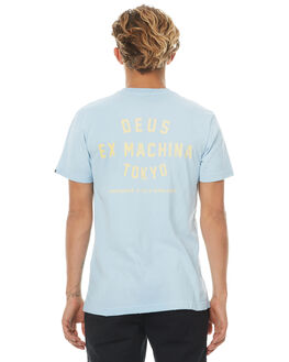AQUAMARINE MENS CLOTHING DEUS EX MACHINA TEES - DMF71462BAMRN