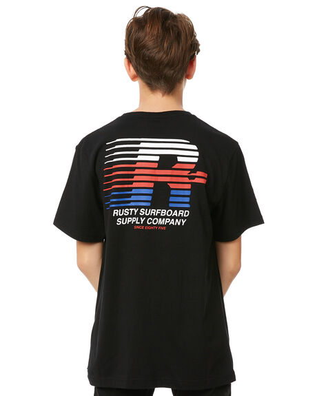 BLACK KIDS BOYS RUSTY TEES - TTB0584BLK