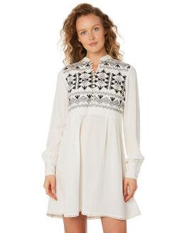WHITE BLACK WOMENS CLOTHING SAINT HELENA DRESSES - SHS192129BWHTBL