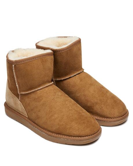 CHESTNUT WOMENS FOOTWEAR UGG AUSTRALIA UGG BOOTS - MINCHE