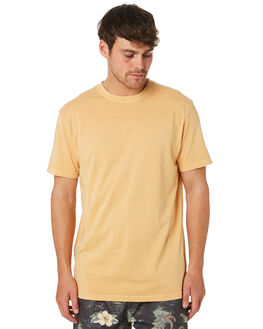 BRIGHT YELLOW MENS CLOTHING RIP CURL TEES - CTESZ29328
