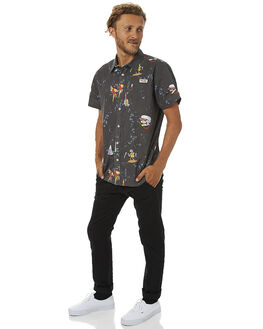 BLACK MENS CLOTHING DR DENIM PANTS - 0630105-101