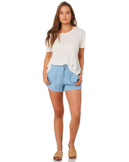 POWDERY BLUE WOMENS CLOTHING RUSTY SHORTS - WKL0667PYB