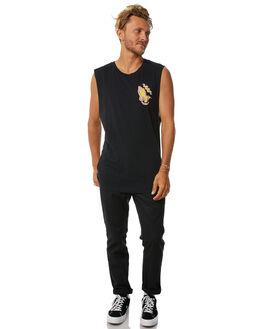 BLACK MENS CLOTHING SANTA CRUZ SINGLETS - SC-MTD7682BLK
