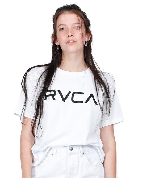 WHITE WOMENS CLOTHING RVCA TEES - RV-R271684-WHT