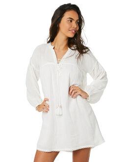 WHITE WOMENS CLOTHING SAINT HELENA DRESSES - SHSP19311AWHT