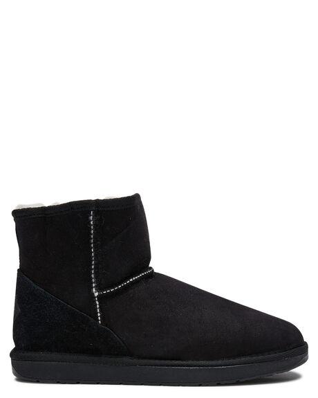 BLACK WOMENS FOOTWEAR UGG AUSTRALIA UGG BOOTS - MINBLK