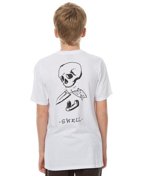 WHITE KIDS BOYS SWELL TEES - S3174007WHITE