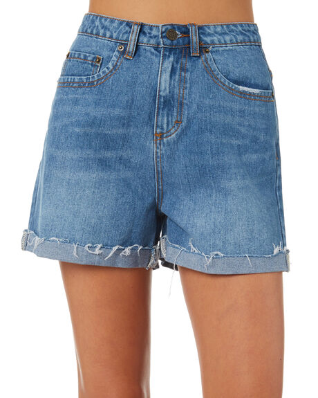 BLUE WASH OUTLET WOMENS THE HIDDEN WAY SHORTS - H8184232BLWSH