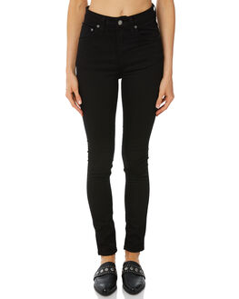 RAVEN BLACK WOMENS CLOTHING NUDIE JEANS CO JEANS - 112809RBLK1