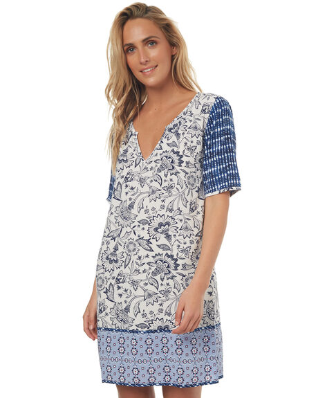 PATCHWORK WOMENS CLOTHING TIGERLILY DRESSES - T372402PAT