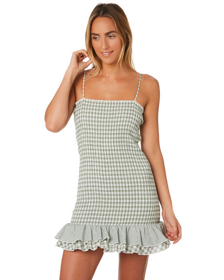 GREEN WOMENS CLOTHING MINKPINK DRESSES - MP1806559GRN