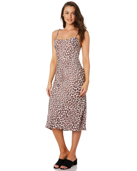 LEOPARD OUTLET WOMENS TIGERLILY DRESSES - T392492LEO