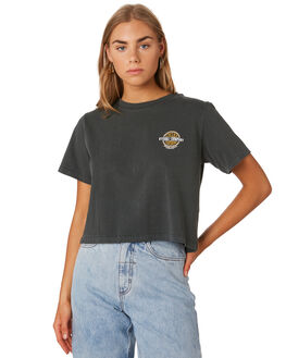 MERCH BLACK WOMENS CLOTHING THRILLS TEES - WTS9-130MBBLK