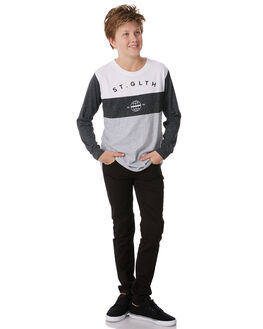 GREY MARLE KIDS BOYS ST GOLIATH TOPS - 2414005GRYM
