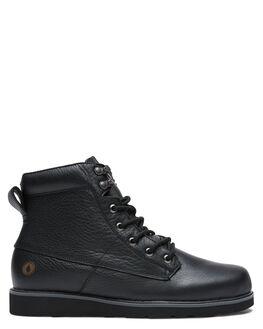 BLACK MENS FOOTWEAR VOLCOM BOOTS - V4031711BLK