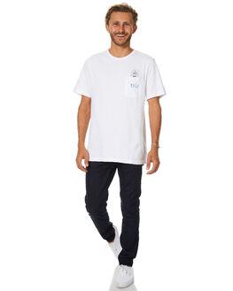 WHITE MENS CLOTHING RVCA TEES - R174041WHT