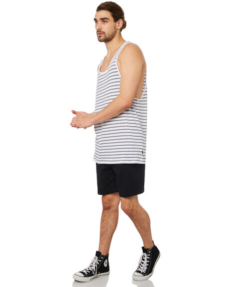 WHITE OUTLET MENS SILENT THEORY SINGLETS - 40X0016WHT