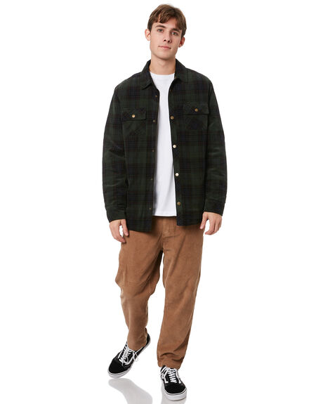 FOREST GREEN CHECK MENS CLOTHING MR SIMPLE JACKETS - M-09-35-37FRGRC