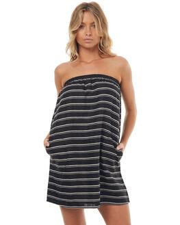 BLACK STRIPE WOMENS CLOTHING LILYA DRESSES - LND11-LSM17BLK