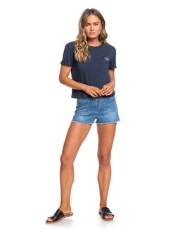 MOOD INDIGO WOMENS CLOTHING ROXY TEES - ERJZT04872-BSP0
