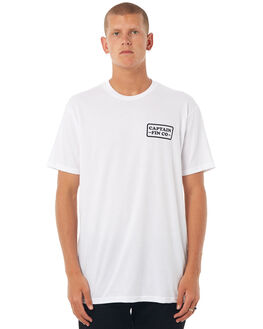 WHITE MENS CLOTHING CAPTAIN FIN CO. TEES - CT174310WHT